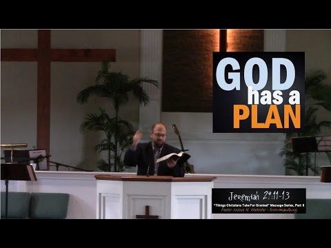 """God Has A Plan"" (Jeremiah 29:11-13) by Joshua M. Wallnofer"