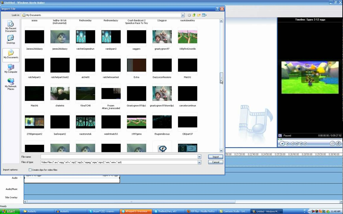 Windows Movie Maker Splitscreen