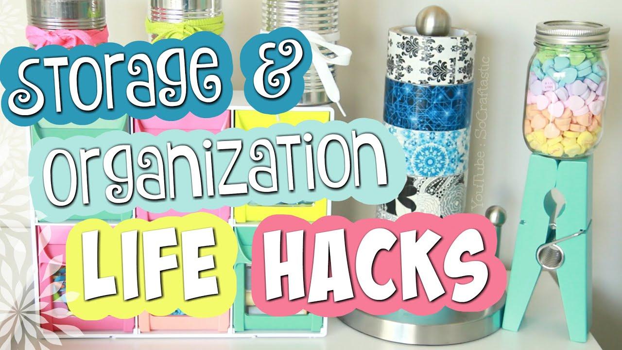 10 EASY Storage & Organization LIFE HACKS