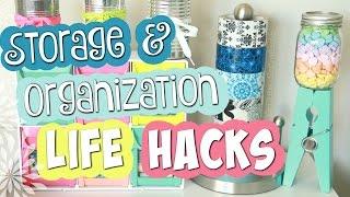 10 EASY Storage & Organization Life Hacks // SoCraftastic