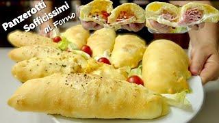 PANZEROTTI SOFFICI AL FORNO con Impasto Brioche salato