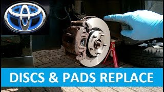FRONT DISCS & PADS REPLACE - TOYOTA AVENSIS 2006
