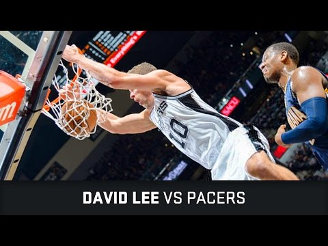David Lee Highlights: 18 PTS, 1 BLK vs Pacers (01.03.2017)
