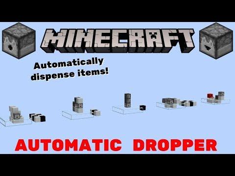 Minecraft 5 Automatic Dispenser/Dropper Designs! Automatically Dispense Items