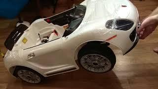Обзор и сборка электромобиль Porsche 12v