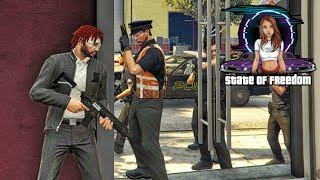 FESTNAHME! Die Cops nehmen uns beim shoppen hoch #021 - Gta V State of Freedom RolePlay Storys M4cM4