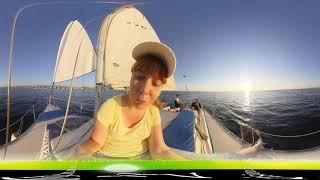 06 Путешествие на лодке в открытое Чёрное море - Сочи - 360 / Видео