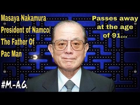 Masaya Nakamura President of NAMCO, Father OF Pac Man passes away at the age of 91. R.I.P. #M.-A.G.