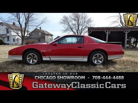 1985 Pontiac Firebird Trans Am Gateway Classic Cars Chicago #1365