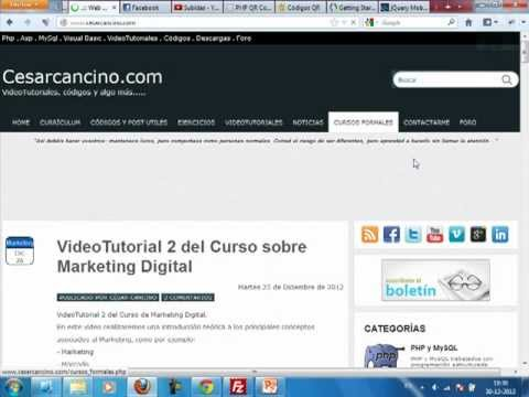 VideoTutorial 3 del Curso sobre Marketing Digital