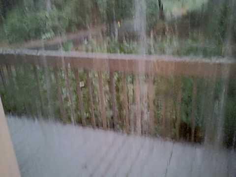 Htc Rain Gutter Waterfall Youtube