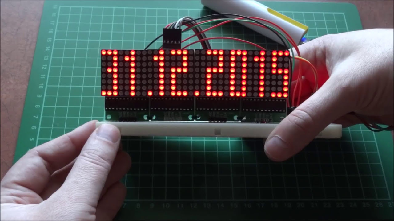 Arduino And Max7219 Led Matrix Clock Thermometer Youtube For Beginners Digital With 7segments Rtc Vocongphat Beelab