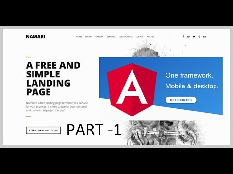 Create your first website using angular 6 -- Part 1