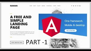 Create your first website using angular 6 -- Part 1 -- HTML Template to Angular Component