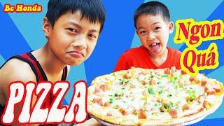 làm bánh pizza mừng nhà carton mới