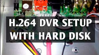 HOW TO INSTALL HARD DISK DRIVE IN H.264 DVR IN HINDI||CCTV CAMERA TRAINING IN HINDI