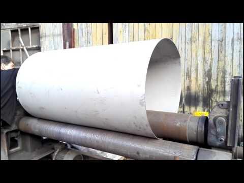 Изготовление обечайки из нержавейки толщиной 3 мм.