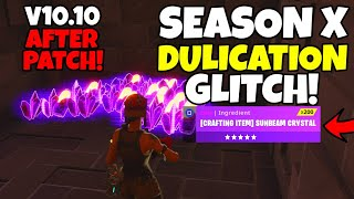 SEASON X DUPLICATION GLITCH AFTER PATCH! (Solo Duplication Glitch) Fortnite Save The World