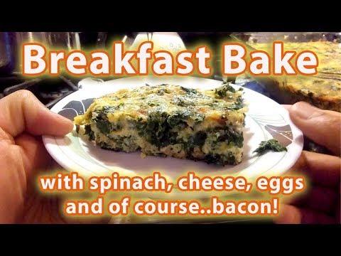 Spinach, Bacon, Egg & Cheese Breakfast Bake