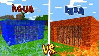 PRISÃO DE LAVA VS. PRISÃO DE ÁGUA (MINECRAFT)