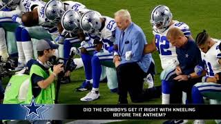 Did the Cowboys get it right with their protest?