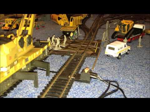 Works on the Road Crossing Model Railway Hornby pendolino Bachmann super voyager