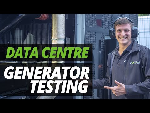 A DAY In The LIFE Of The DATA CENTRE   GENERATOR TESTING With ASH!