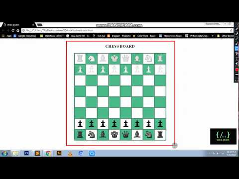 Chess Board With Pieces | HTML | TABLE