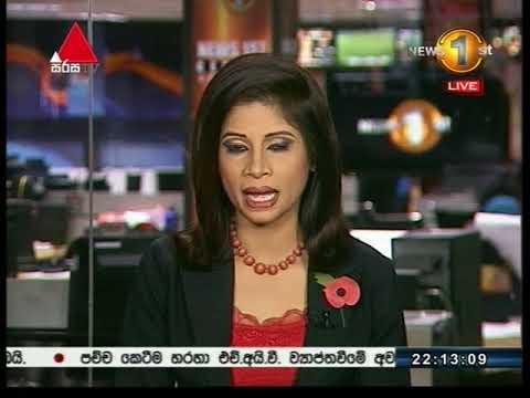 News 1st Sinhala Prime Time, Saturday,  November 2017, 10PM (04-11-2017)