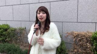 2017.4.4 梅田ナビオ前にて路上LIVE NANA 三大都市ワンマン『夢は逃げな...