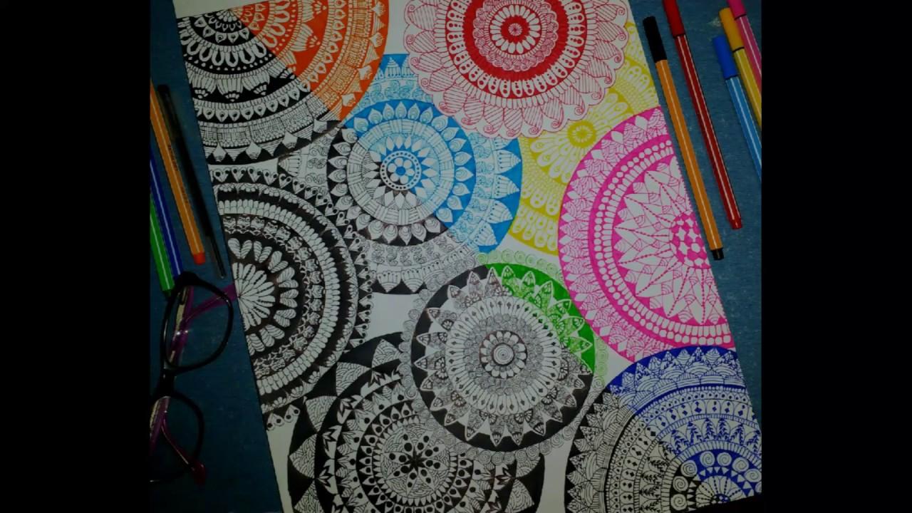 how to draw mandala designs