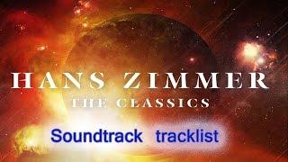 Hans Zimmer - The Classics Soundtrack tracklist