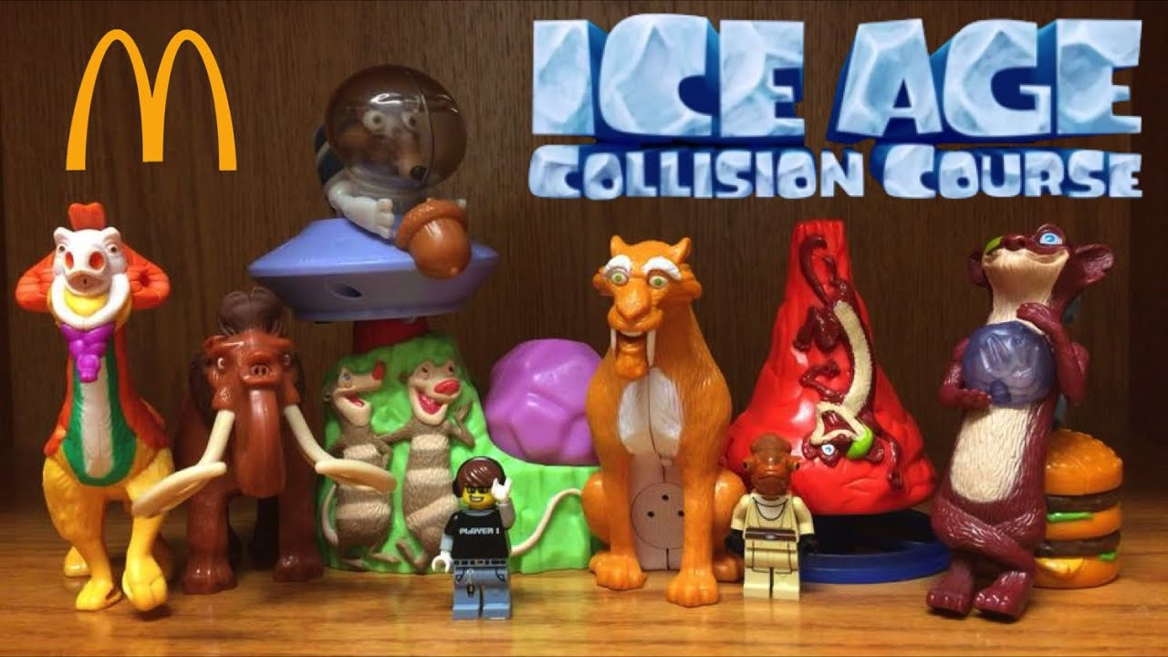 mcdonalds ice age collision course happy meal toys review