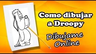 como dibujar a droopy paso a paso | how to draw droopy step by step | como dibujar a droopy