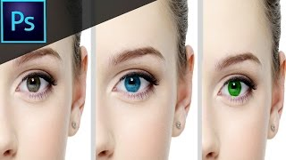 Adobe Photoshop CS6: How to Change Eye Color Easily