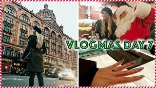 COME LUXURY SHOPPING WITH ME - HARRODS, LIBERTY & TIFFANY RING SHOPPING   Vlogmas Day 7