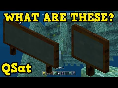 Minecraft Xbox / PE - Why Are CHALKBOARDS In Update Aquatic??