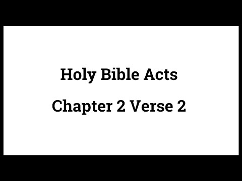 Holy Bible Acts 2:2