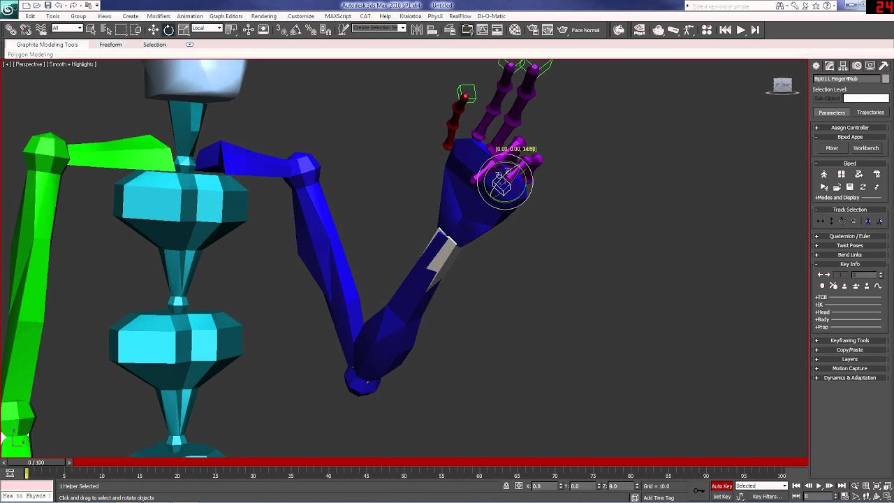 Tutorial biped animation basics part 1 3ds max youtube for Tutorial 3d max