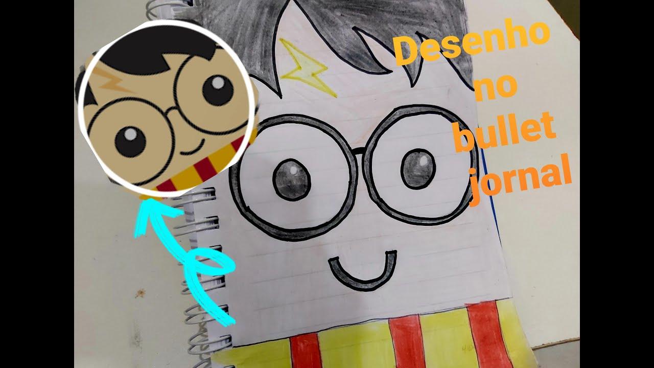 Bullet Journal Desenho Do Harry Potter Youtube
