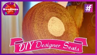 Diy Tutorial | How To Make Designer Seats Using Old Tyres