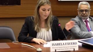 Isabela Fávero (EFSAS) paying tributes to Asma Jahangir during 37th Session of UNHRC