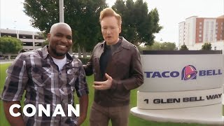 CONAN Highlight: Conan makes IT guru Chris Hayes' dreams come true with a visit to the Taco Bell test kitchens. More CONAN @ http://teamcoco.com/video ...