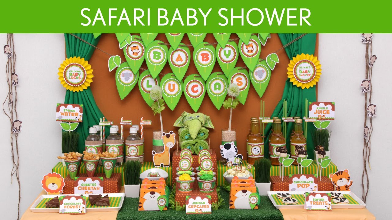 safari baby shower party ideas safari s10 youtube