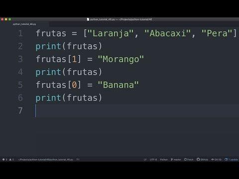 Como Editar Dados em Uma Lista / Array (Python Tutorial #46) thumbnail