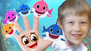 Baby Shark Dance Finger Family Colors Songs Water Slide Nursery Rhymes For Kids by Egorka Kid