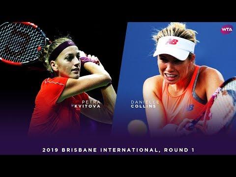 Petra Kvitova vs. Danielle Collins | 2019 Brisbane International First Round | WTA Highlights