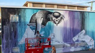 NEW ZEALAND'S WORTH LOVING - Poorly Penguin - #2 of a pollution awareness mural tour