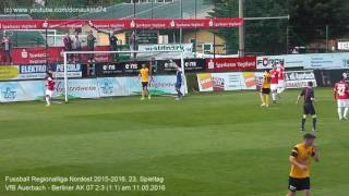 VfB Auerbach - Berliner AK 07 2:3 (1:1), Regionalliga Nordost 2015-2016 am 11.05.2016