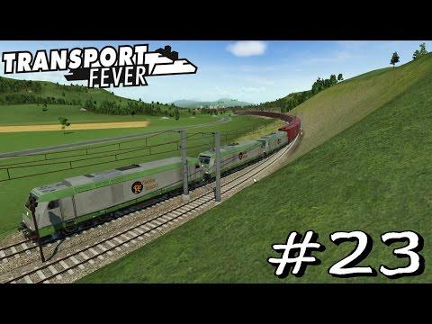 Transport Fever #23 - Mega Züge über 1km Länge lohnen sich [Gameplay German Deutsch]